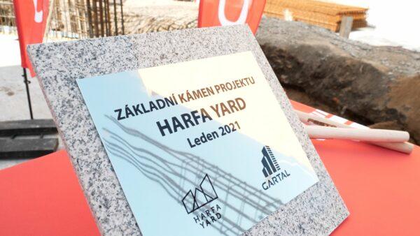 POLOŽENÍ ZÁKLADNÍHO KAMENE HARFA YARD